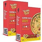 Yogabar Veggie Masala Flavour Premium Super Oats | Pack of 2 | 400gm Each