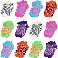 Libella 12 paia Calzini Bambini Calze Ragazze Cotone Conforto Traspirante per Primavera Estate calzini per sneaker…