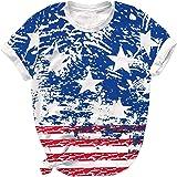 قميص 4 من يوليو الولايات المتحدة الأمريكية للنساء - الكبار الوطنيين العلم الأمريكي قميص للرجال