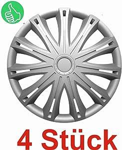 Universal Radzierblende Radkappe Silber 17 Zoll Für Viele Fahrzeuge Passend Auto