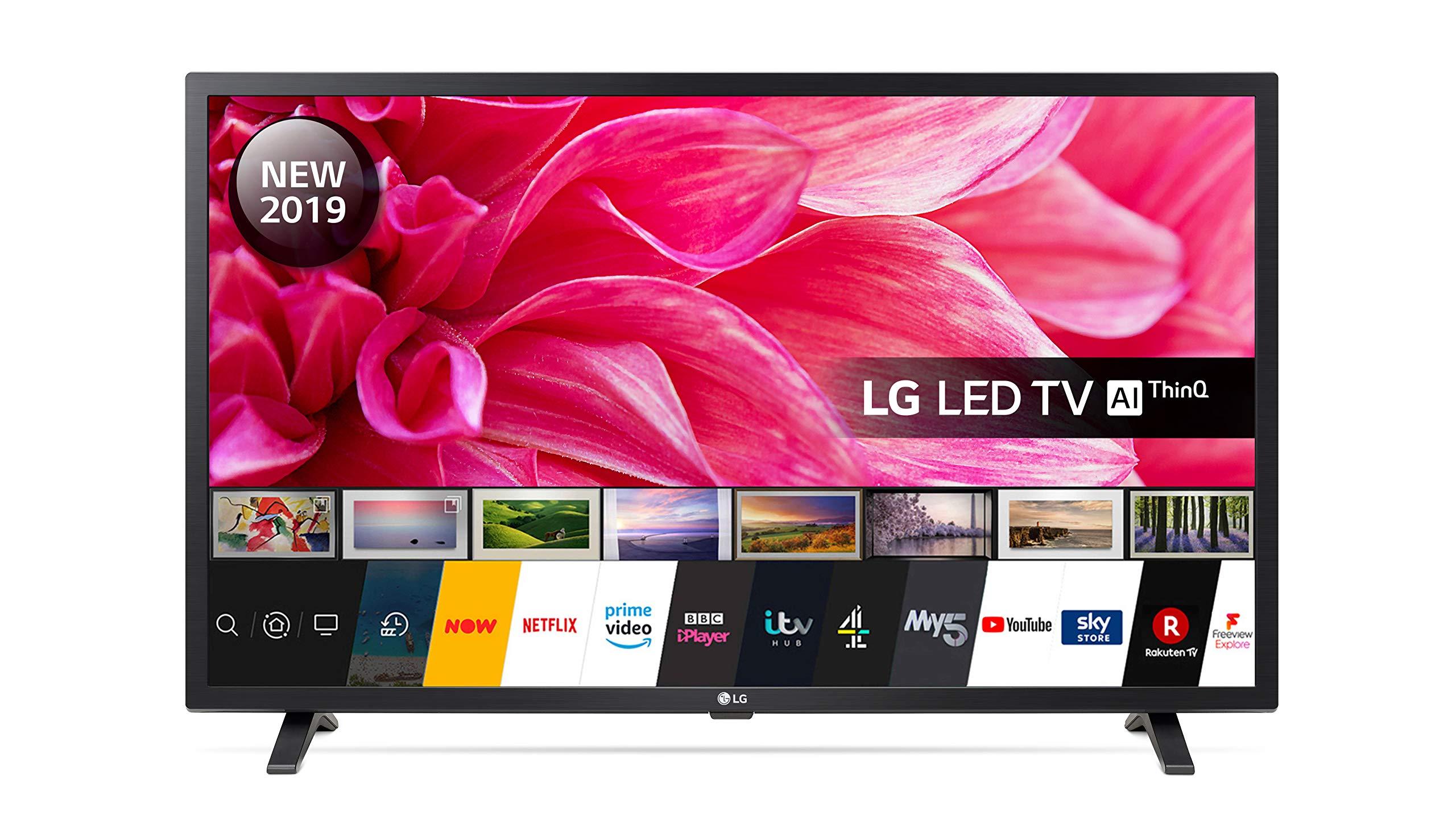 81XpNyoJi6L - LG Electronics 32LM630BPLA.AEK 32-Inch HD Ready Smart LED TV with Freeview Play - Ceramic Black Colour (2019 model)
