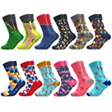 Colorful Crew Socks Funny Fancy Patterned Stocking Happy Casual Cotton Sock Packs