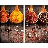 Allstar Plaque de protection en verre Curry - Set de 2, couvre-plaque de cuisson pour plaques de cuisson vitrocéramiques ou i
