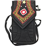 SriShopify Handicrafts Women's smart mobile pouch Cotton Canvas Small Sling Crossbody Bag with Stylish Design Thread and orig