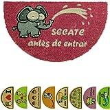 LucaHome - Felpudo de Coco Natural 70x40 con Base Antideslizante, Felpudo de Coco Divertido Secate Antes de Entrar Felpudo Ab