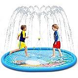 LIORQUE Splash Pad, Juegos de Agua para Niños Almohadilla de Aspersión 190 * 150 cm Juegos Agua Jardín Antideslizante Inflabl