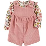 Mud Pie Baby Girls' Corduroy Floral Bubble Set