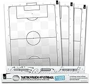 1x1Sport, fogli autoadesivi, per elaborare tattiche, formazioni, azioni ed esercizi da calcio, con motivo a campo da calcio