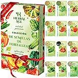 Mezcla De Semillas De 12 Vegetales, 5100 Semillas De Tomate, Pimiento Dulce, Cebolla, Lechuga, Calabacín, Pepino, Tomate Cher