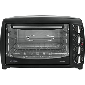 Maharaja White Line Marvello 35-Litre Toaster Oven (Premium Black and Silver)