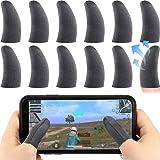 12 Pezzi Finger Sleeve per Giochi, Touch Screen Finger Sleeve Traspirante Anti-Sudore sensibile sparare e mirare Chiavi per R