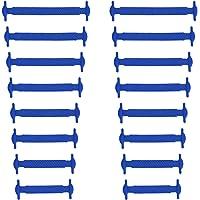 Xunits Elastische Silikon Schnürsenkel flach Schleifenlose Schuhbänder in 13 (neon) für Kinder & Erwachsene