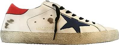 Golden Goose Sneakers Uomo Vintage Superstar GMF00101.F000348.10281 Bianco Blu Rosso