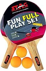 Stag Table Tennis Fun-Full Play Set 2 Rackets, 3 TT Balls & 1 Portable Net (Multicolor)