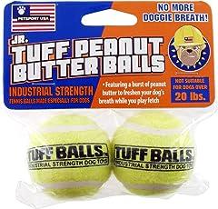 Petsport Jr. Peanut Butter Balls Dog Toy, 2 Pack