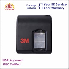 Count_On 3M Cogent CSD200 Fingerprint Scanner with 1 Year RD Service