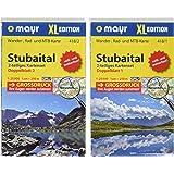 Stubaital XL (2-Karten-Set): Wander-, Rad- und Mountainbikekarte. GPS-genau. 1:25000 (Mayr Wanderkarten)