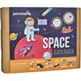 Art and Craft Science Kit for Kids - Space Explorer DIY Experiment Fun Kit for Children Ages 7-10, Perfect Birthday Gift for Girls and Boys Learning Stem Toys (6-in-1)