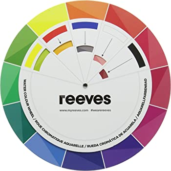 Pocket Colour Wheel Aid To Help You Mix Colours Amazon Co Uk