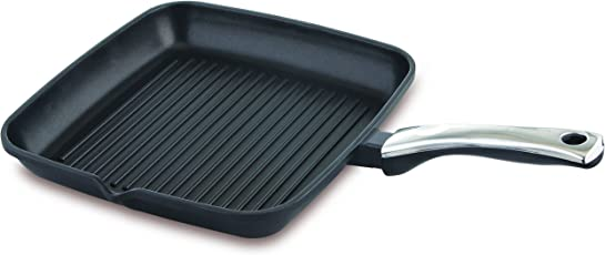Prestige Die Cast Plus Square Grill Pan, 280mm, Black