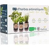 Cultivea Kit completo de hierbas - Kit completo de hierbas - Cultiva tus propias hierbas aromáticas - 100% ecológicas: semill