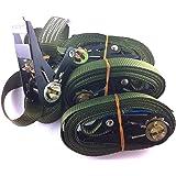 iapyx 4X ratelspanband spanband met ratel 6 meter EN norm kleur: Bundeswehr Olive