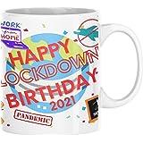 FirstforGifts Lockdown Birthday Mug 10oz Perfect gift, Funny Mugs, Novelty Present to Remember a Birthday During 2021 18th 21
