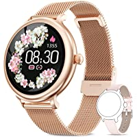 AIMIUVEI Smartwatch Damen,Fitness Tracker IP68 Wasserdicht Smart Watch mit Aktivitätstracker Schlafmonitor,Sportuhr…