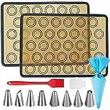 Tapis de Cuisson Silicone ,Tapis de four Macaron,Tapis Patisserie,Ustensiles à Pâtisserie ,Sac de Pâtisserie/Douilles Pâtisse