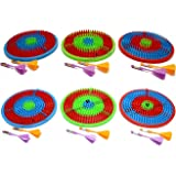 perpetual bliss (pack of 6) dart game for kids / birthday party return gifts (dimension)cm:16.5x18x2- Multi color