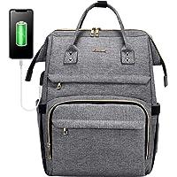 LOVEVOOK Laptop Rucksack Damen 15,6 Zoll, wasserdichte Business Schule Rucksäcke mit USB Ladeanschluss, Rechteckig…