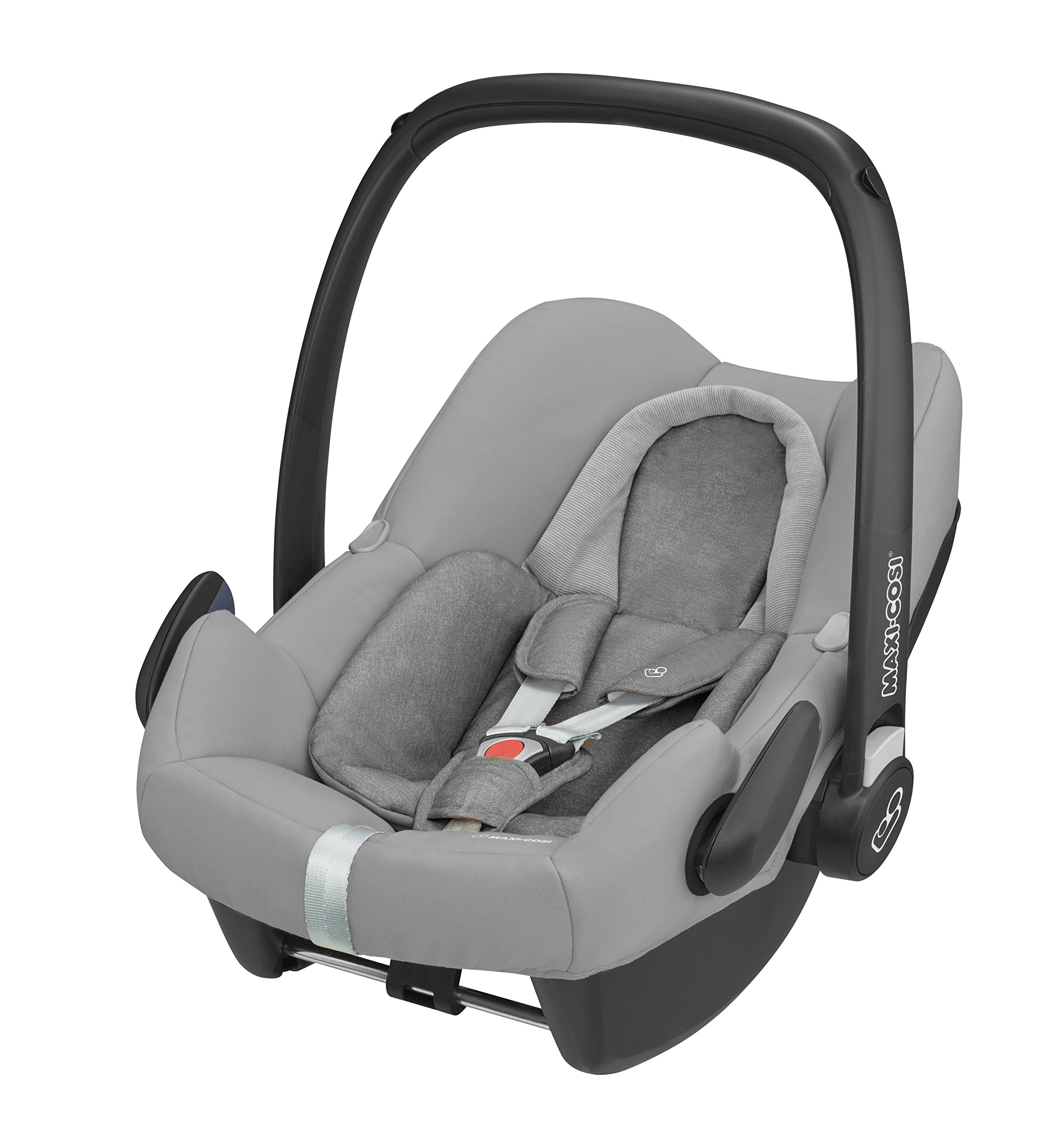 Maxi-Cosi Rock i-Size Baby Car Seat, Nomad Grey with Raincover for Baby Car Seat, Transparent and Back Seat Car Mirror Maxi-Cosi High safety rating: complies with the latest i-Size (R129) car seat legislation Baby-hug inlay offers a better fit and laying position for new-born's Designed to fit onto the maxi-cosi pebble plus, pebble and cabriofix baby car seats 2