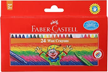Faber-Castell Wax Crayon Set - 75mm, Pack of 24 (Assorted)