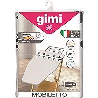 GIMI Mobiletto Copriasse da Stiro, Telo Stiro con Elastico, Imbottito, Riflettente, Tessuto, Grigio, 112 x 60 x 0.02 cm