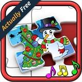 Niños rompecabezas de Navidad formas - juego educativo para niños en edad pre-escolar 3 +