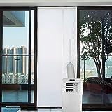 Yinong AirLock met ritssluiting voor het bevestigen aan balkondeuren raamafdichting voor mobiele airconditioners, airconditio