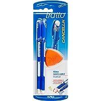 Tratto 041702 - Penna con inchiostro cancellabile, Blu, Confezione da 2