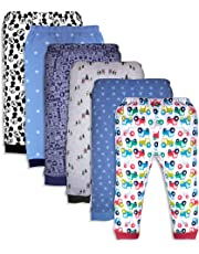 Minicult Cotton Baby Pajama Pants Unisex with Rib (Pack of 6) (Assorted)