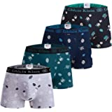Slip Boxer in Cotone da Ragazzo Intimo 8-16 Anni Mutande Set da 4 Pezzi Set Multicolore Design Italiano Ultra Morbido