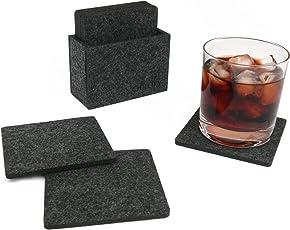Chillify Getränke-Untersetzer aus Filz - Glasuntersetzer für Bar, Tisch, Gläser 8er Set mit Box