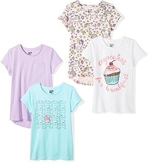 Spotted Zebra M/ädchen 4-Pack Short-Sleeve T-Shirts 4er-Pack Marke