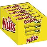 Nuts Melkchocolade Reep Hazelnoot Karamel - 24 Chocoladerepen - Voordeelverpakking