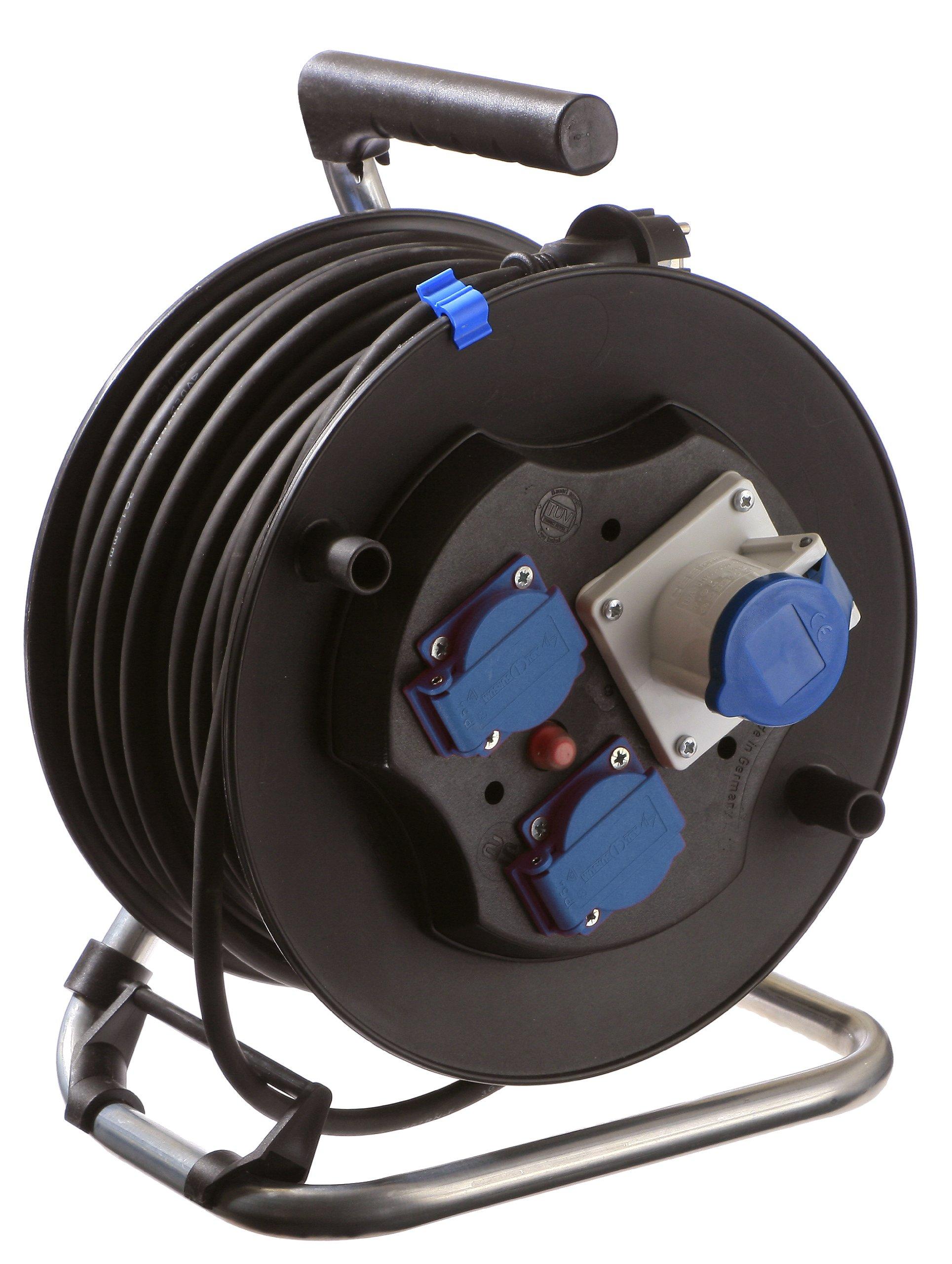 as - Schwabe, 880082, As-Schwabe 880 082 NF / IEC avvolgicavo 285 mm, 230 V / 16 A, 40 yarde, IP 44
