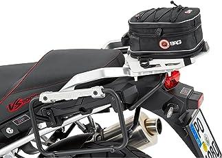 Motorrad-Heck-Tasche QBag Hecktasche Motorrad Hecktasche 02 Motorradgepäck Tasche Hinterradgepäckträger, universell, einfache Montage, 5 bis 8 Liter Stauraum, schwarz