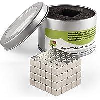 OfficeTree 100 Mini Cubes magnétique en néodyme 100 5x5x5 mm –Adhésion Extra Fort pour Tableau Blanc, Tableau magnétique…