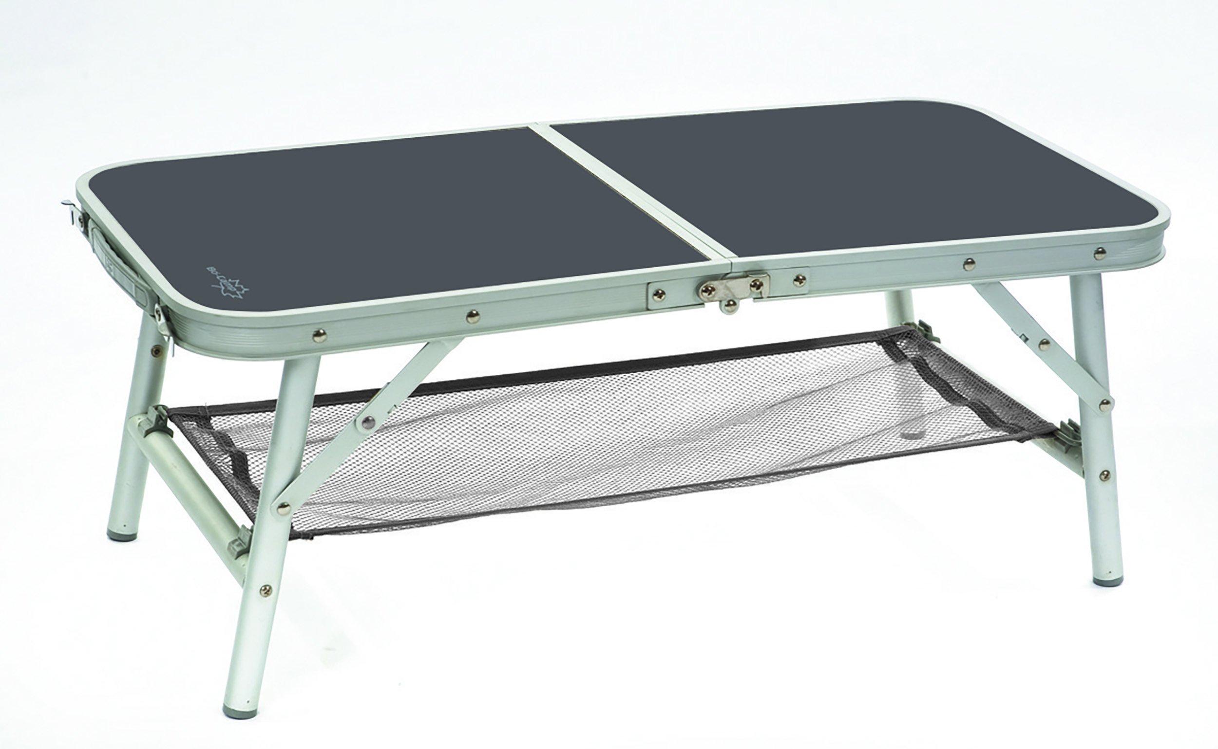 Bo camp campingtisch klapptisch koffertisch mit 4 höhen alu 80x40