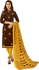 Viva N Diva Salwar Suit Dupatta For Women's Cotton Embroidered Un-Stitched Dress Material,Free Size