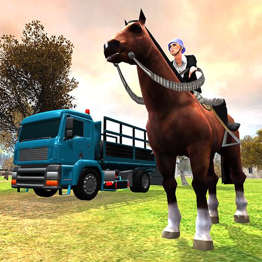Wild Horse Transporter Truck Simulator : Offroad Truck Animal Driver Best Free Game 3d