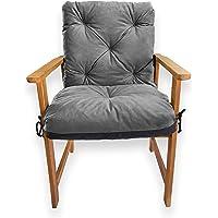 4L Textil Coussin de banc de jardin pour balancelle - Coussin d'assise et de dossier - Facile d'entretien (50 x 50 x 50…