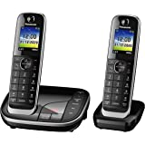 Panasonic KX-TGJ322EB Twin Handset Cordless Home Phone with Nuisance Call Blocker and LCD Colour Display - Black